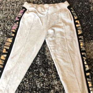 PINK joggers with stripe down the sides